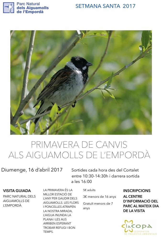 16 d'abril 2017 Visita guiada als Aiguamolls de l'Empordà